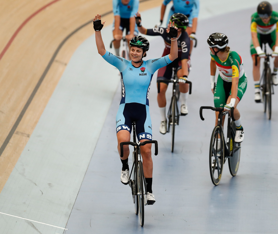 Ash Ankudinoff celebrates a gallant win. Photo credit Con Chronis.